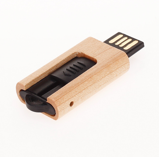 100% Real Capacity Wood Portable Device USB 2.0 flash drives with Custom Logo