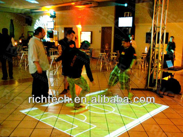 Interactive floor system is a perfect event decoration to advertise brand