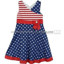 new design kid summer wear cotton girl dot dress
