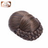 new fashionable product hair bun extension/black synthetic hair bun