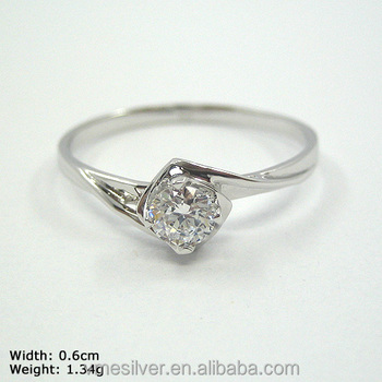 Rzd 0003 925 Sterling Silver Ring Wedding Ring One Stone Silver