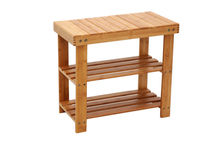 Multifunctional natural bamboo made shoes rack & shoes-changing bench