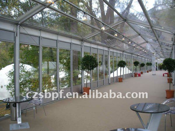 clear wedding tent for outdoor events