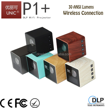 2017 Newest dlp wireless connection dlp projector,pico projector,wifi projector P1+