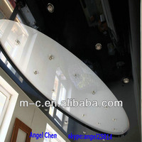 lacquer white and black pvc film stretch ceiling