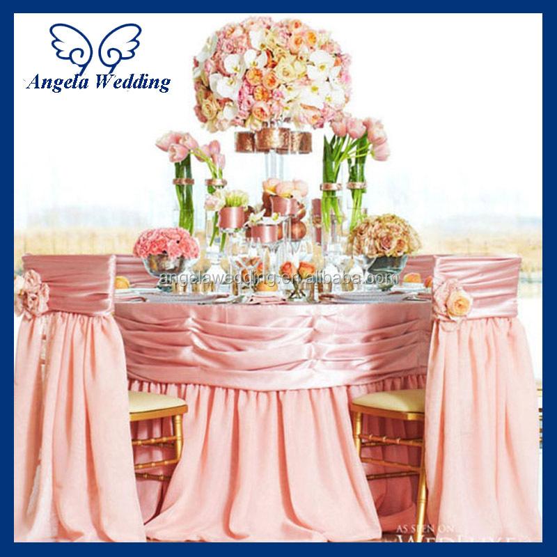 Ch030a Hot Sale Fancy Wedding Ruffled Taffeta Turquoise Blue Chair