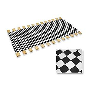 The Furniture Cove Checkered Flag Race Car Nascar Racing Twin Size Bed Slats Bunkie Board Support Roll
