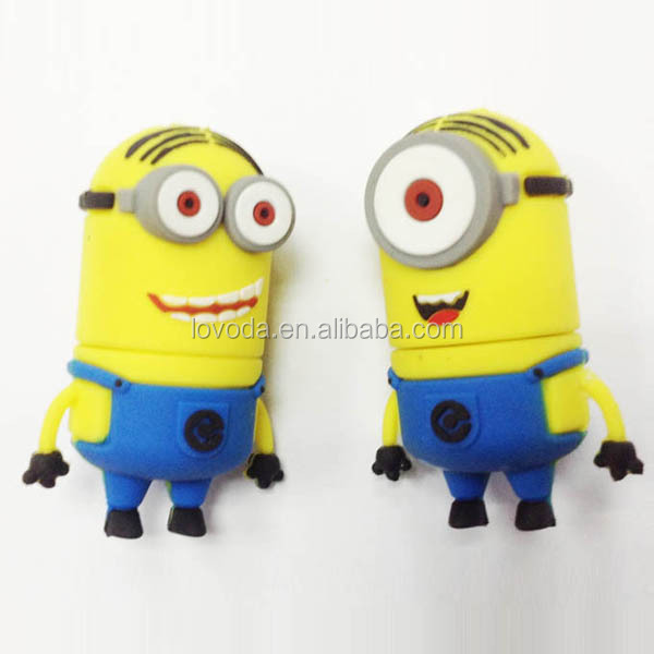 novelty 70 different models minions usb sticks with keychain ROHS approved/usb flash drives bulk cheap/1000gb usb flash drive