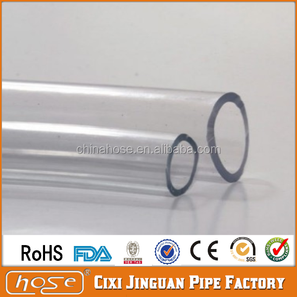 Cixi Jinguan Food Grade 1/4 ID PVC Beer Tube,Flexible PVC Clear Level Hose Pipe,Soft Clear PVC Milk Drinking Hose