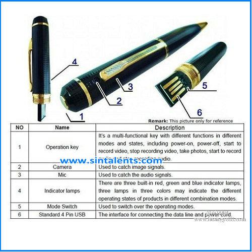 Pen Camera 1080P Camcorder DVR Video Recorder