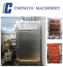 Commercial Fish Smoking Machine Sausage Steaming and Smoking house Smoke Chamber 500kg/time