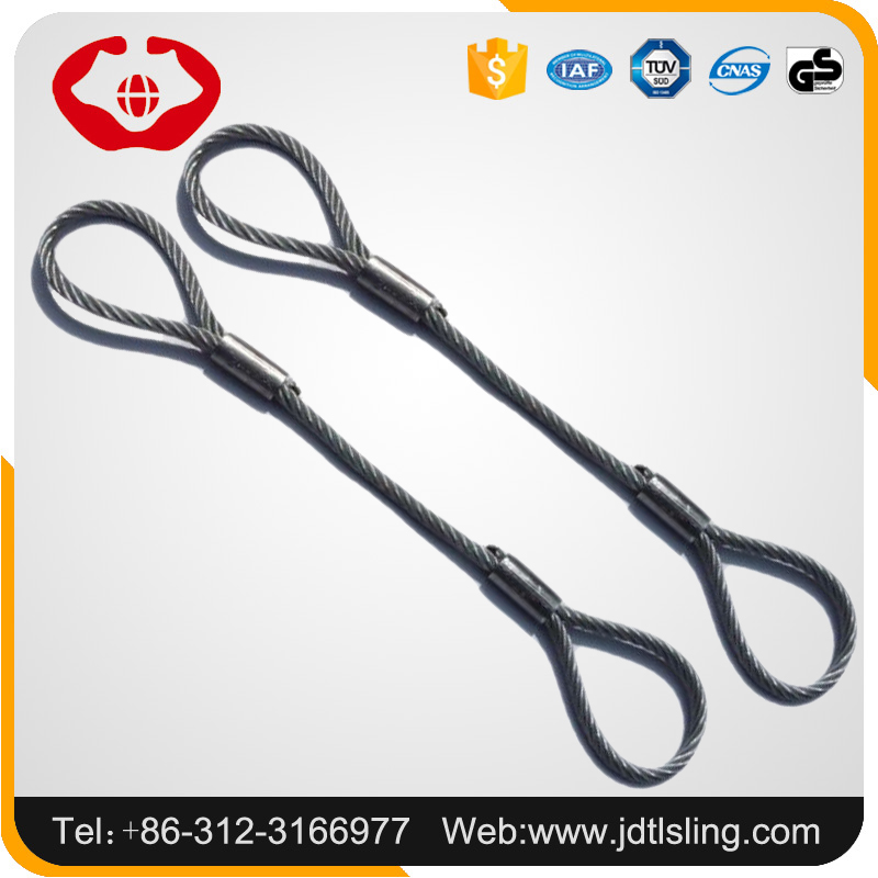 Pressed Lifting Cable Sling Steel Wire Rope Sling With Ferrule - Buy ...