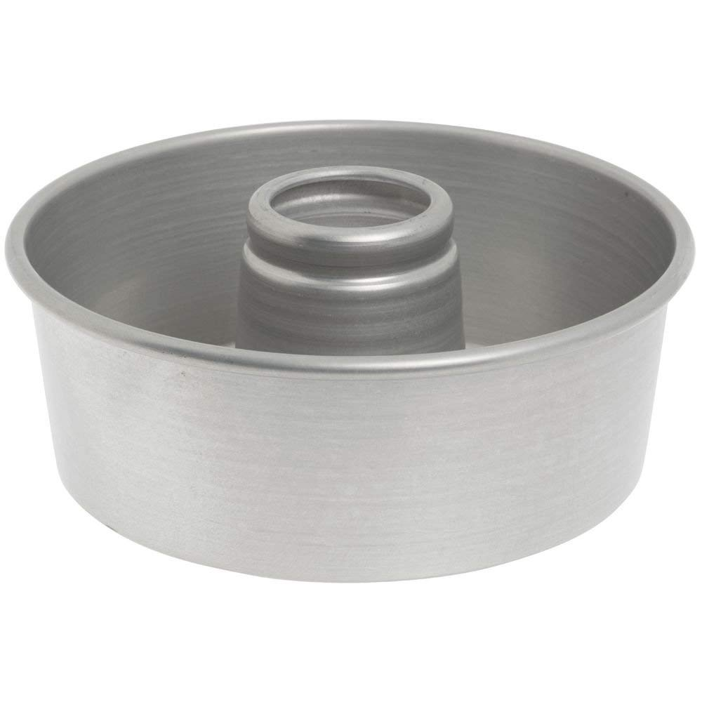 "Bundy Chicago Metallic Aluminum Angel Food Cake Pan with AMERICOAT Glaze - 10"" Dia x 3 3/4"" D"