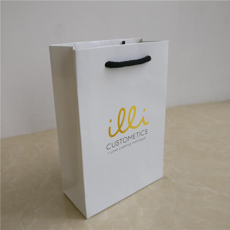 Fashion design printed logo custom art paper bags for shopping gift