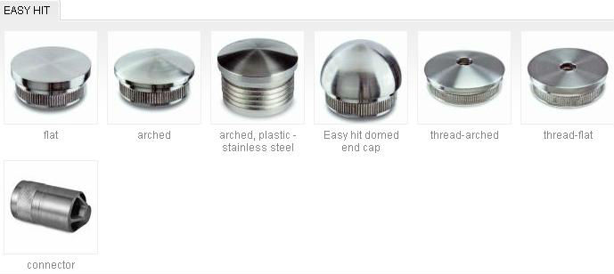 Stainless steel end caps tubes pipe