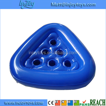 Inflatable Pool Pong Rack Floating Game Set Beer Cups