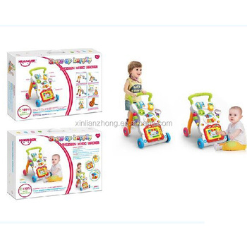 2017 factory wholesale plastic baby walker with music