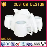 China factory wholesale custom design ceramic porcelain 5pcs Tea Sets
