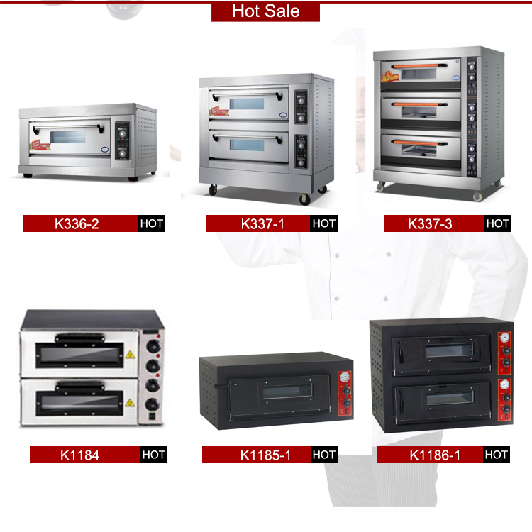 Factory price commercial stainless steel 2 Layers Electric Pizza Oven