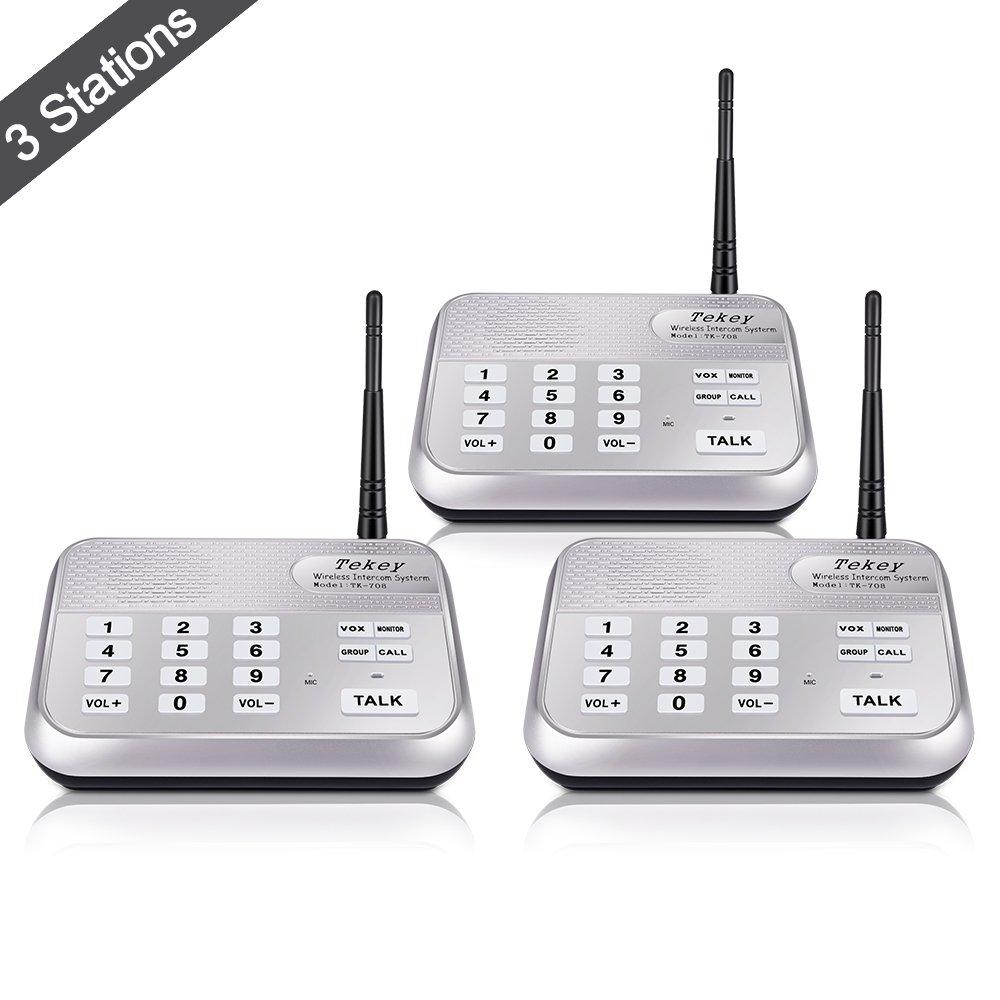 Get Quotations Wireless Intercom System 2018 Version Tekeytbox 1800 Feet Long Range 10 Channel Digital