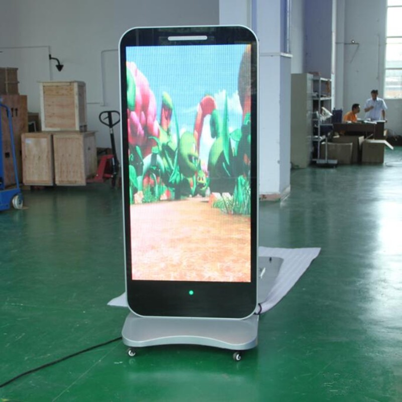 P40 Product Display Stands With Video Screen Double Sided Outdoor Led Inspiration Multimedia Display Stands