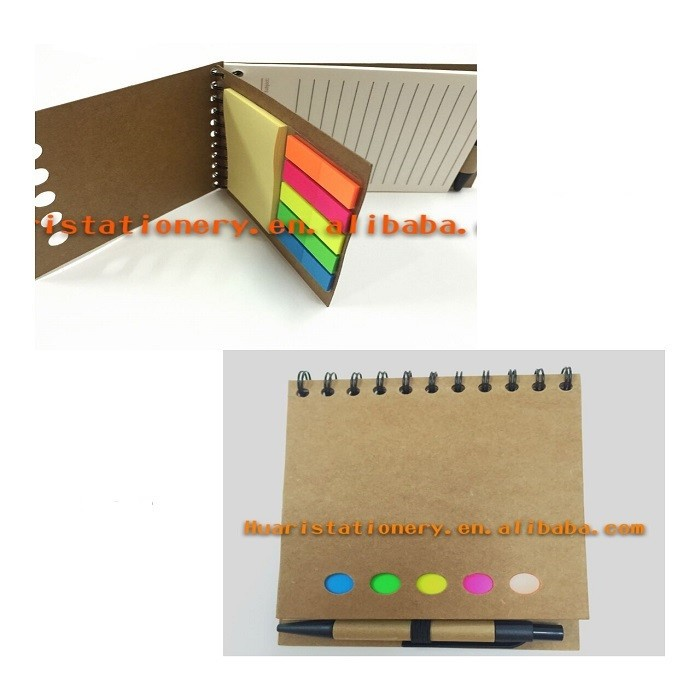 Eco memo pad with recyled pen
