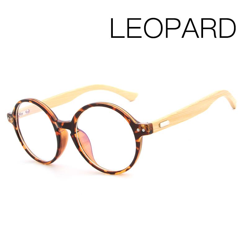Hdcrafter Bamboo Leg Round Frame Eyeglasses Fashion Wooden Ladies ...
