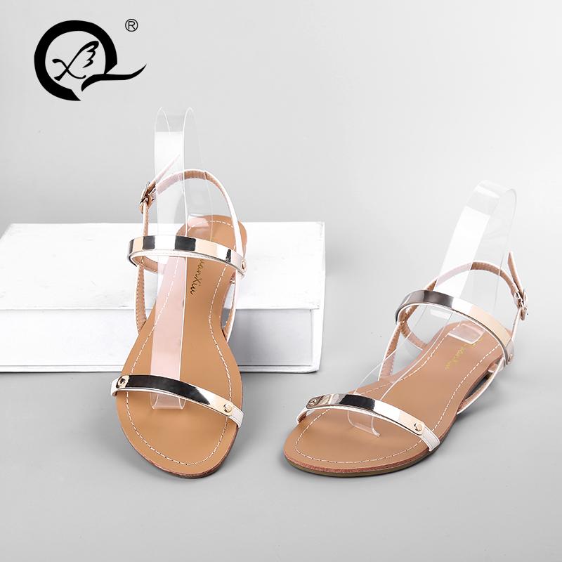 CX302 2017 verano moda mejores damas sandalias planas