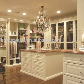 2017 Wardrobe cabinet cream Walk in closet design