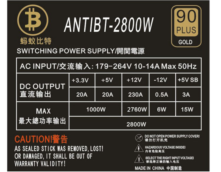 Ethereum Atx Psu 2800w Eth Btc Miner Power Supply Support Gpu Gtx 1050 Ti  1060ti 1070ti Vega 56 64 - Buy 2800w Mining Power Supply For Graphics Card