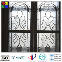 China manufacturer iron glass of door design inserts and wrought iron glass