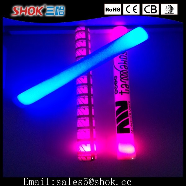 2015 Party Decoration&Office Decoration Even Hot Selling Product Glowing LED Foam Stick/LED Cheer Stick/LED Foam Light Stick