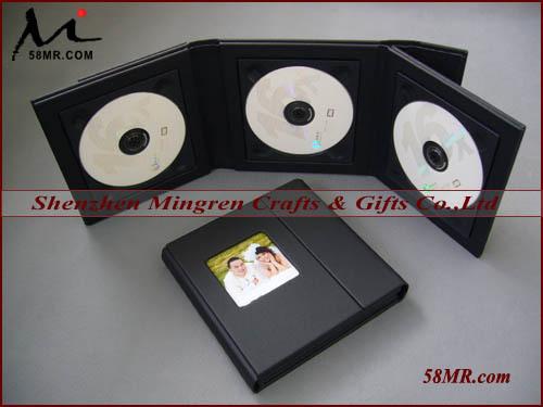 New Elegant Wedding Black Leather Multiple CD DVD Disc ...
