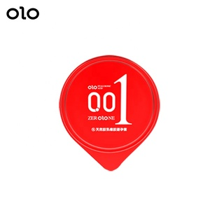 OLO Japanese Condom 001 Super Sensitive Silicone Dildo Condoms in Avocado Box 10pcs/box