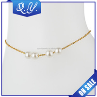14K Gold Plated Jewelry Gold Anklet Designs Fctory Direct Sale