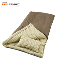 2018 Adult cotton lined rectangular envelope sleeping bags with pillow