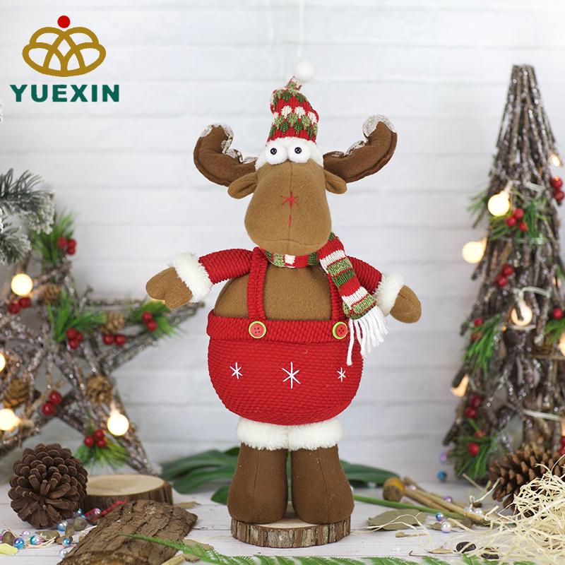 Kerst Home Decoratie Groothandel Moose Geschenken Staande Herten Speelgoed 23 Inch Xmas Pluche