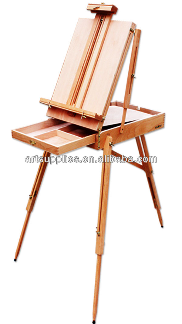 French Easel Wooden Sketch Box Portable Folding Art Artist Tripod ...