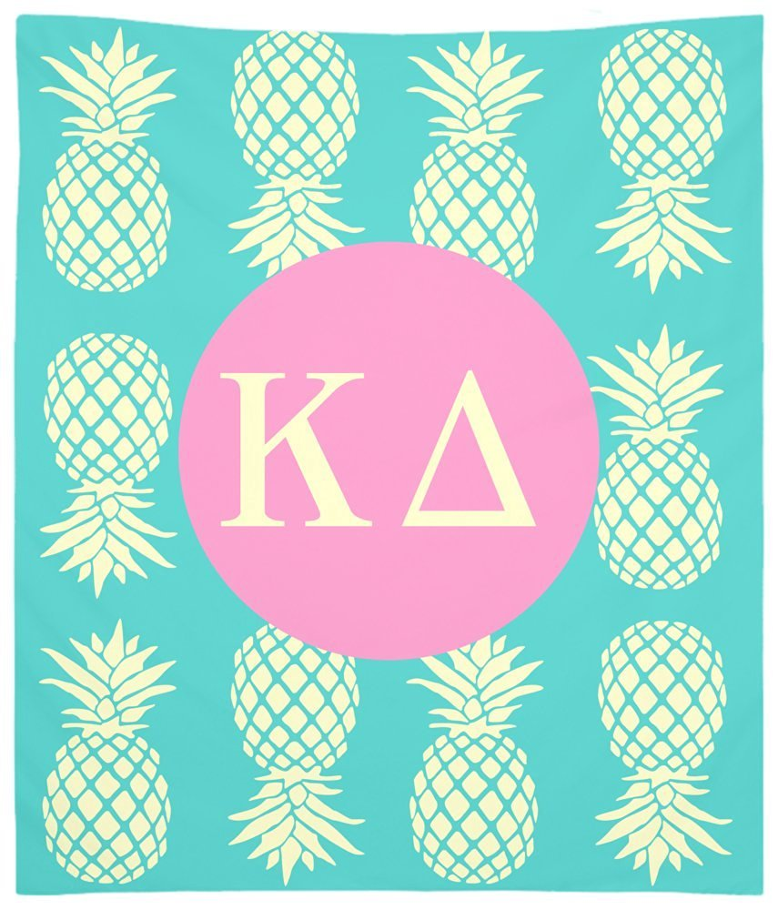 Kappa Delta Pineapple Pattern Wall Tapestry for Bedroom or Dorm