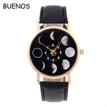 Hot-selling Fashion Unisex Moon Colorful Leather Band Wrist watch