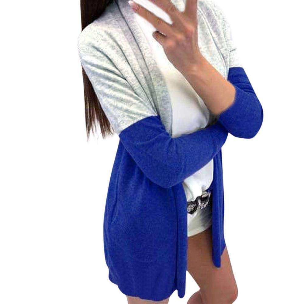 Sikye Women Cardigan Coat,Ladies Spling Color Open Shawl Outwear Tops Long Maxi Cardigan