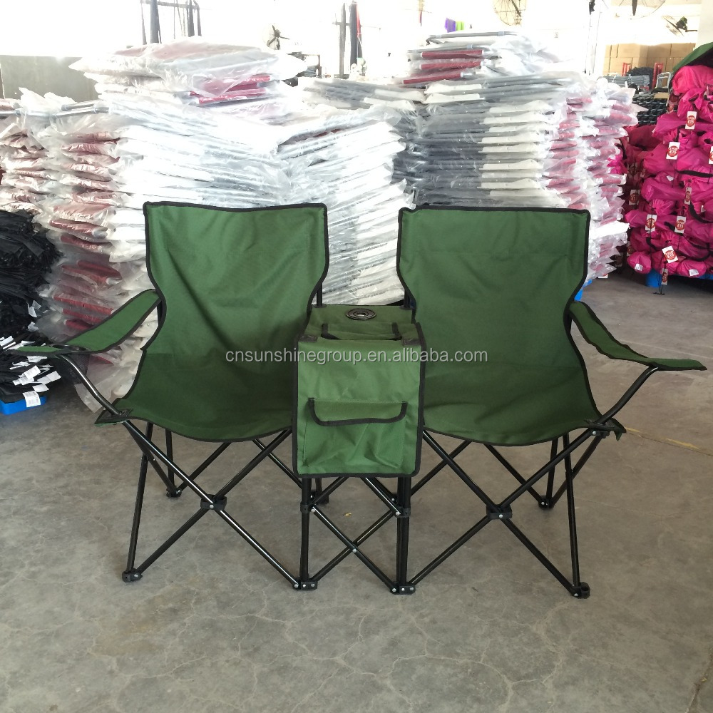 Double folding chair with cooler/2 person folding Chair with Umbrella and Table & Double Folding Chair With Cooler/2 Person Folding Chair With ...