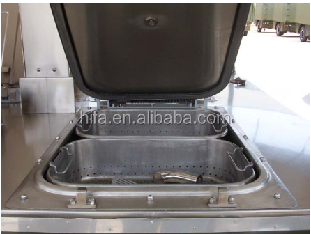 Model XC-250 mobile field kitchen military mobile kitchen outside camping food catering trailer