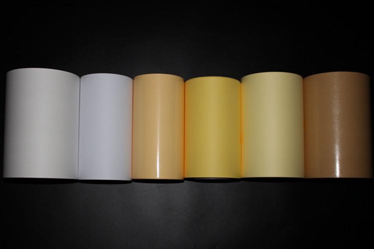 Lateral única PE Papel Revestido Com Forro De Liberação de Silicone Amarelo