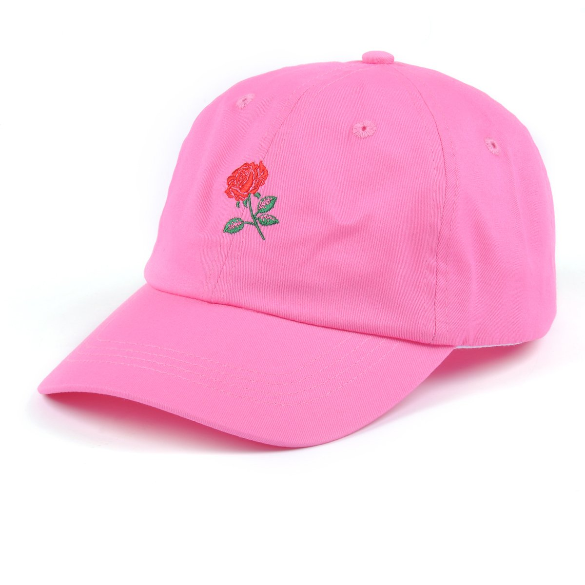 f61eb726 Get Quotations · AUNG CROWN Rose Embroidered Dad Hat Women Men Cute  Adjustable Cotton Floral Baseball Cap