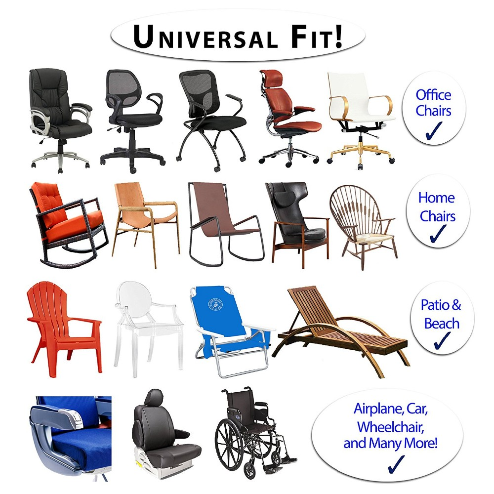2pcs Memory Foam Office Chair Armrest And Wheelchair