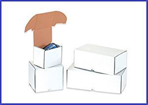 BoxYeah 25 Pack - White Corrugated Outside Tuck Mailer Shipping Boxes - 6 Sizes To Choose - Example (11 3/4 x 7 1/4 x 4 3/4)