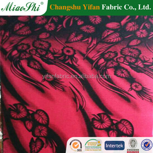 2015 New floral design Micro velvet 9000 printed model for dress making