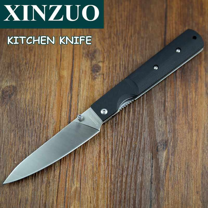 folded steel kitchen knives newest 440a steel pocket folding kitchen chef knife high