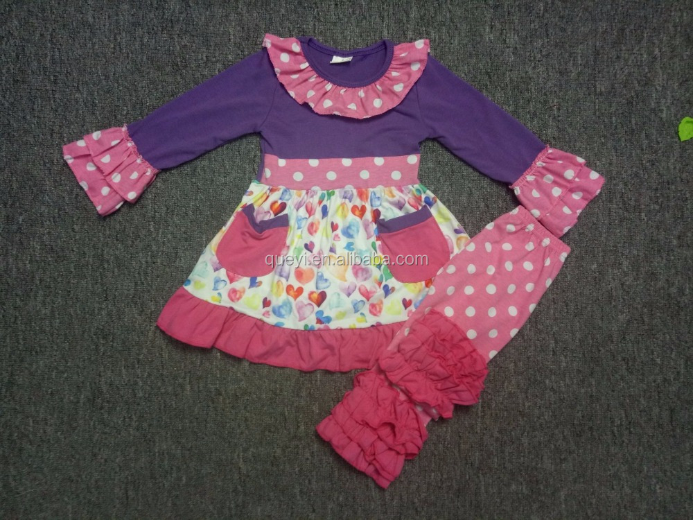 valentines day boutique sets valentine outfits wholesale children's boutique clothing with pockets